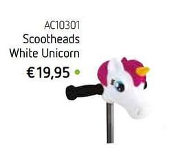 Scootheads white unicorn