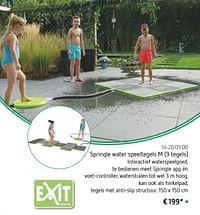 Sprinqle water speeltegels m-Exit
