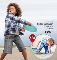 Frisbee + zandzeef vintage blue 2 in 1-Huismerk - De Speelvogel