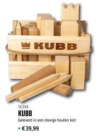 Kubb geleverd in een stevige houten kist-Huismerk - De Speelvogel