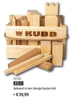 Kubb geleverd in een stevige houten kist