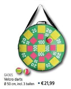 Velcro darts