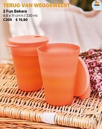 2 fun bekers-Huismerk - Tupperware