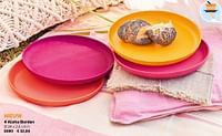 4 aloha borden-Huismerk - Tupperware