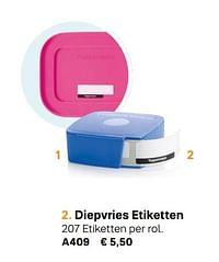 Diepvries etiketten-Huismerk - Tupperware
