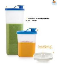 Schenkkan vierkant filter-Huismerk - Tupperware