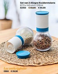 Set van 2 allegra kruidenmolens-Huismerk - Tupperware
