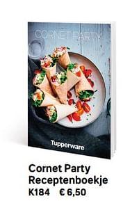 Cornet party receptenboekje-Huismerk - Tupperware
