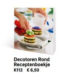 Decotoren rond receptenboekje-Huismerk - Tupperware