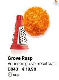 Grove rasp-Huismerk - Tupperware