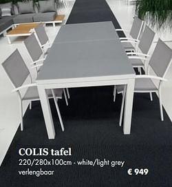 Colis tafel