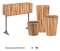 Planter teak-Huismerk - Desomer-Plancke