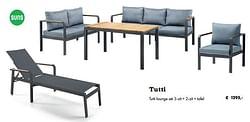 Tutti lounge set 3-zit + 2-zit + tafel