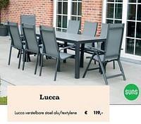 Lucca verstelbare stoel alu-textylene-Suns