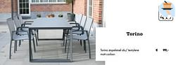 Torino stapelstoel alu- textylene matt carbon