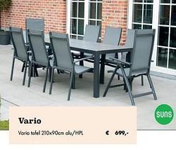 Vario tafel