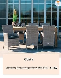 Costa dining fauteuil