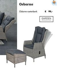 Osborne voetenbank-Garden Impressions