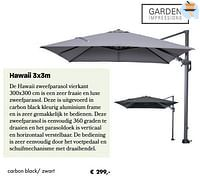 Hawaii carbon black- zwart-Garden Impressions