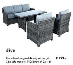 Jive willow loungeset