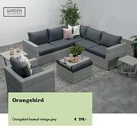 Orangebird fauteuil vintage grey-Garden Impressions