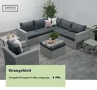 Orangebird loungeset 4-delig vintage grey-Garden Impressions