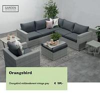 Orangebird middenelement vintage grey-Garden Impressions
