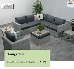 Orangebird middenelement vintage grey