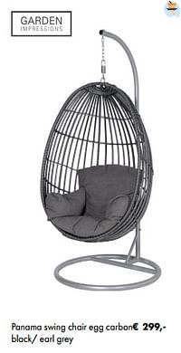 Panama swing chair egg carbon-Garden Impressions