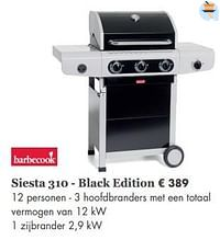 Barbecook siesta 310 - black edition-Barbecook