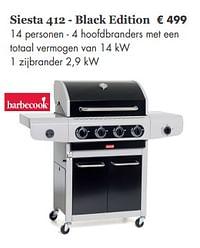 Barbecook siesta 412 - black edition-Barbecook