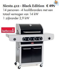 Barbecook siesta 412 - black edition