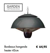 Bordeaux hangende heater-Garden Impressions