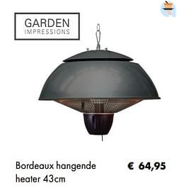 Bordeaux hangende heater