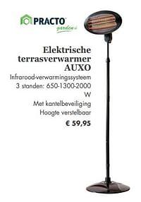 Elektrische terrasverwarmer auxo-Practo