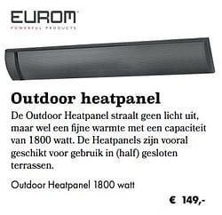 Outdoor heatpanel