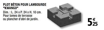 Promotion Brico Depot Plot Beton Pour Lambourde Kwango Produit Maison Brico Depot Bricolage Valide Jusqua 4 Promobutler