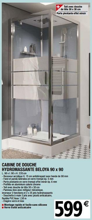 goodhome cabine de douche hydromassante beloya  en