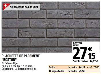 Promotion Brico Depot Plaquette De Parement Boston Produit Maison Brico Depot Interieur Decoration Valide Jusqua 4 Promobutler