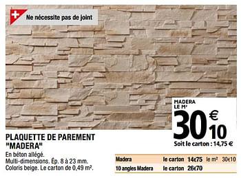 Promotion Brico Depot Plaquette De Parement Madera Produit Maison Brico Depot Interieur Decoration Valide Jusqua 4 Promobutler