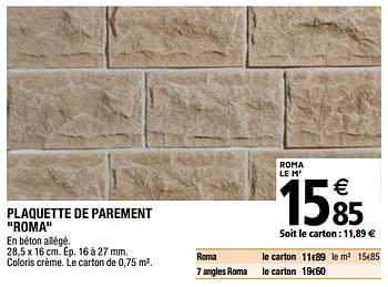 Promotion Brico Depot Plaquette De Parement Roma Produit Maison Brico Depot Interieur Decoration Valide Jusqua 4 Promobutler