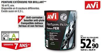 Promotion Brico Depot Peinture Exterieure Fer Brillant Avi Interieur Decoration Valide Jusqua 4 Promobutler