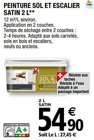 Promotion Brico Depot Peinture Sol Et Escalier Satin V33 Bricolage Valide Jusqua 4 Promobutler