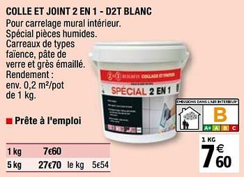 Promotion Brico Depot Colle Et Joint 2 En 1 D2t Blanc Mapei Bricolage Valide Jusqua 4 Promobutler
