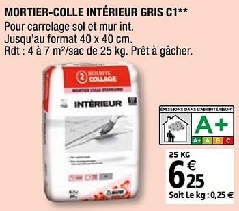 Promotion Brico Depot Mortier Colle Interieur Gris C1 Mapei Bricolage Valide Jusqua 4 Promobutler
