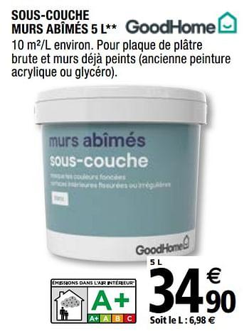 Promotion Brico Depot Sous Couche Murs Abimes Goodhome Bricolage Valide Jusqua 4 Promobutler