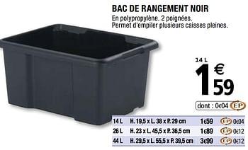 Promotion Brico Depot Bac De Rangement Noir Produit Maison Brico Depot Menage Valide Jusqua 4 Promobutler