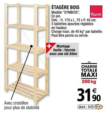 Promotion Brico Depot Etagere Bois Form Meubles Valide Jusqua 4 Promobutler