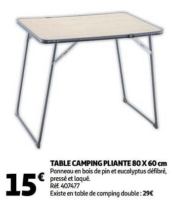 Promotion Auchan Ronq Table Camping Pliante Produit Maison Auchan Ronq Caravanes Camping Valide Jusqua 4 Promobutler