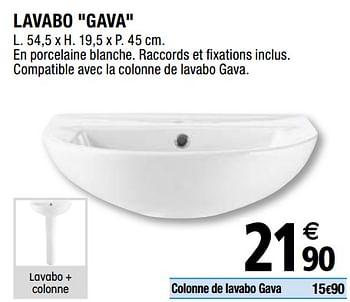 Promotion Brico Depot Lavabo Gava Produit Maison Brico Depot Cuisine Salle De Bain Valide Jusqua 4 Promobutler